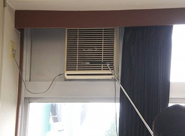壁付換気扇 風量測定状況